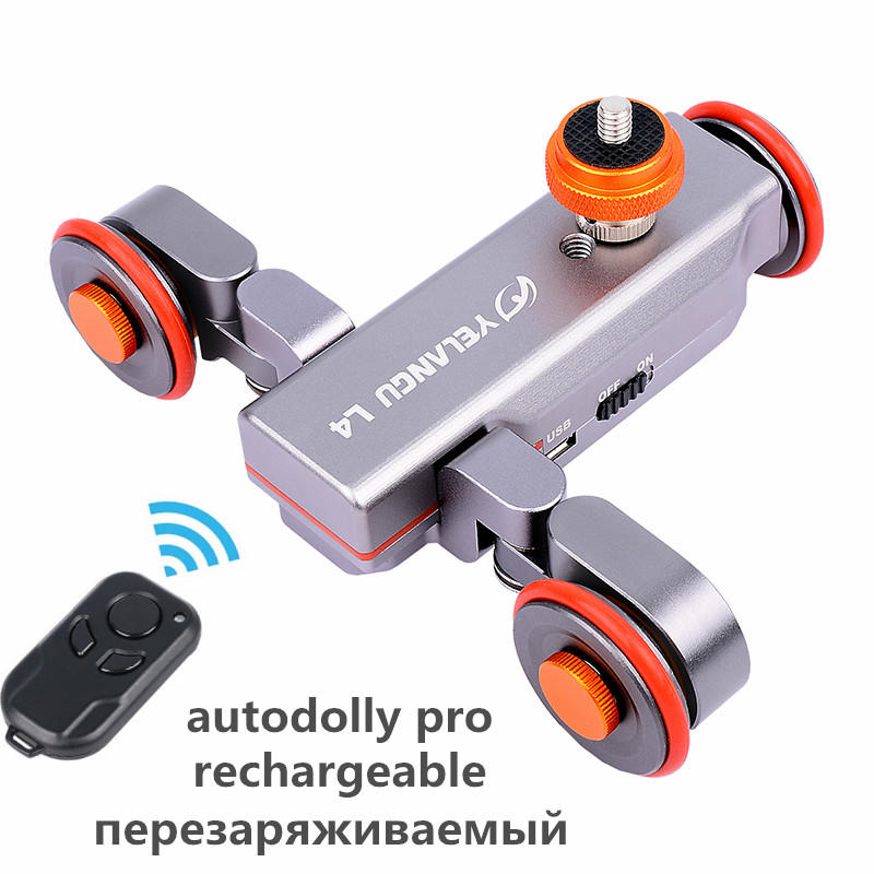 Autodolly Pro II Wireless Remote Motorized Electric Track Slider Dolly Car 3 Wheel Video Pulley Rolling