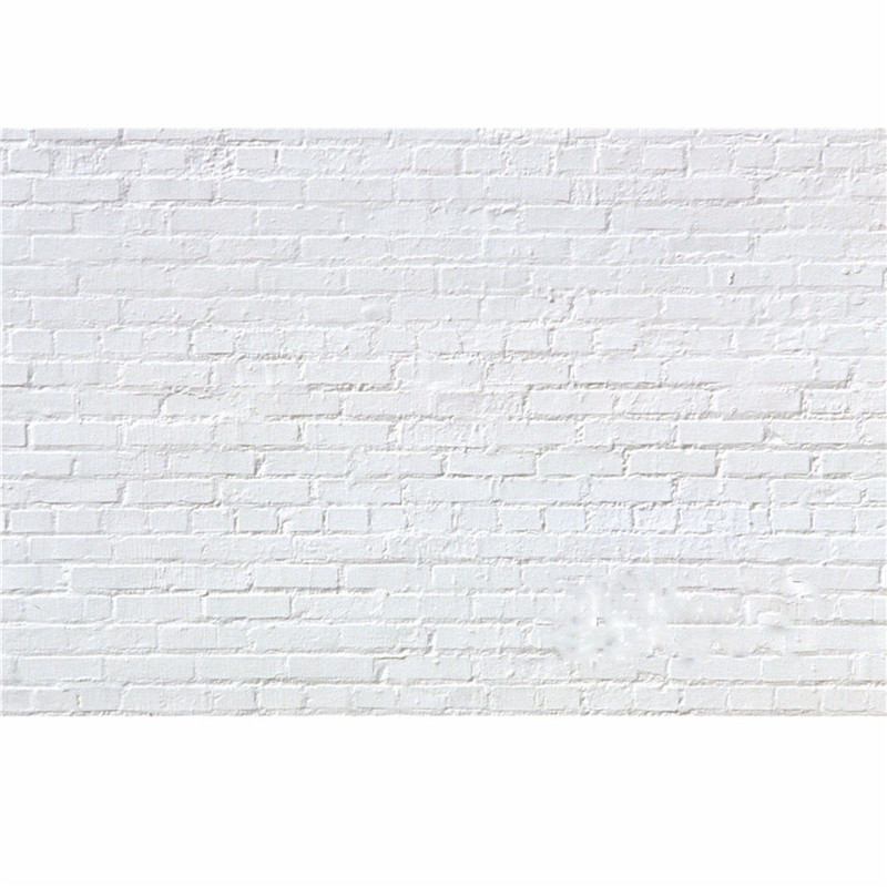7x5FT Vinyl Photography Background White Brick Wall For Studio Photo Props Photographic Backdrops Cloth 2.1mx1.5m dark brown brick wall with white clock photography backdrops wedding background 200x300cm photo studio props fotografia