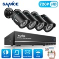 SANNCE 8CH 1080P HDMI CCTV System 4PCS 720P 1280TVL outdoor Surveillance 1.0MP Security Camera System DVR Kit Email Alert