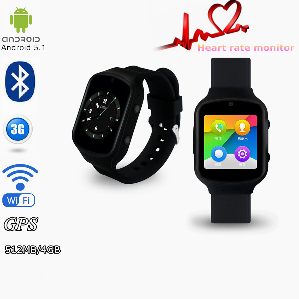 Z80 Smart Watch Android 5.1OS MTK6580 Quad Core Smartwatch With 3G wifi Bluetooth GPS Google Play Store Heart Rate Monitor no 1 d6 1 63 inch 3g smartwatch phone android 5 1 mtk6580 quad core 1 3ghz 1gb ram gps wifi bluetooth 4 0 heart rate monitoring