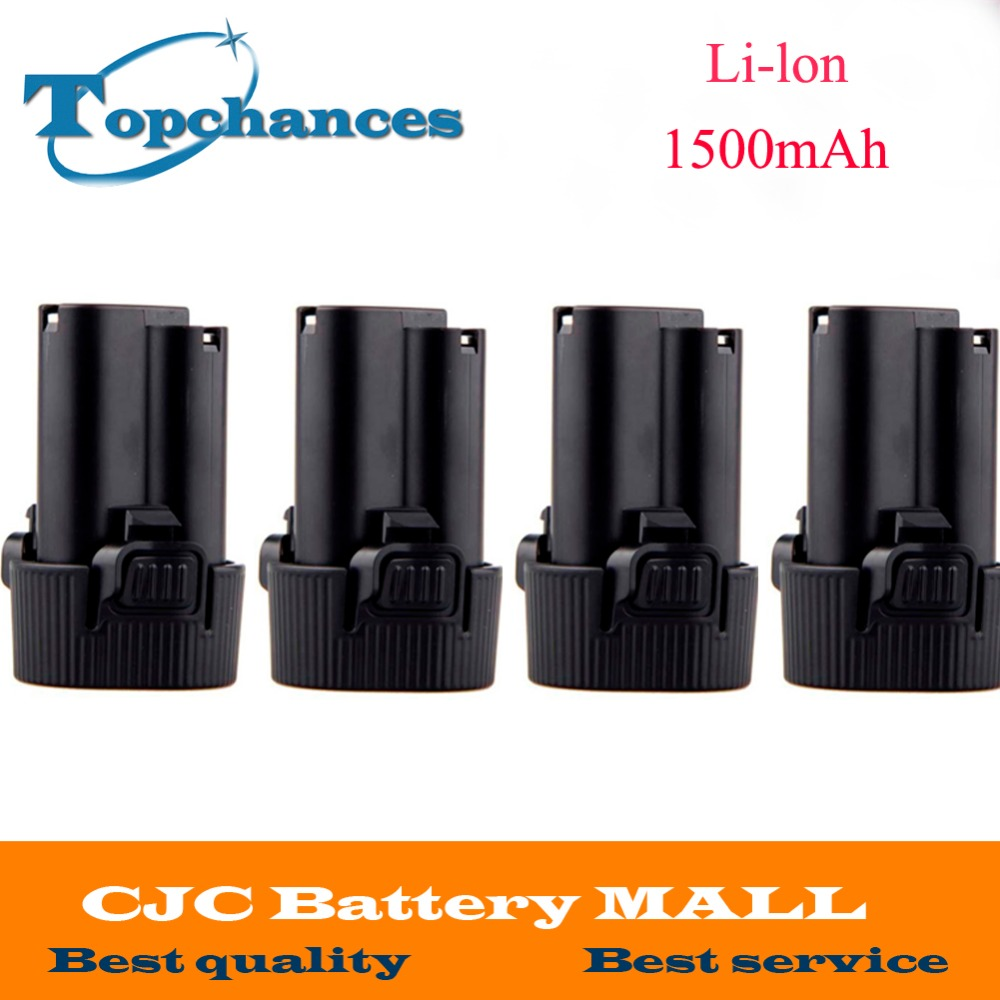 4PCS Battery for Makita 10 8V 10 8 Volt BL1013 BL1014 TD090D TD090DW LCT203W 194550 6