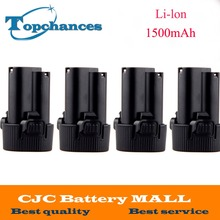 4PCS Battery for Makita 10.8V 10.8 Volt BL1013  BL1014 TD090D TD090DW LCT203W 194550-6 194551-4Li-ion Electric Power Tool