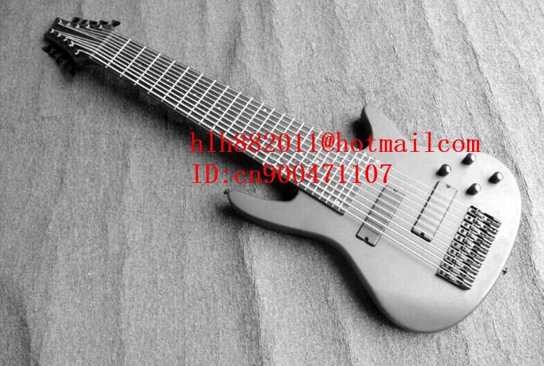 new 10-strings electric bass guitar in gray with black hardware and rosewood  fingerboard + free shipping  F-2108 savarez 510 cantiga series alliance cantiga normal high tension classical guitar strings full set 510arj