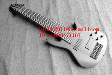 new 10-strings electric bass guitar in gray with black hardware and rosewood  fingerboard + free shipping  F-2108