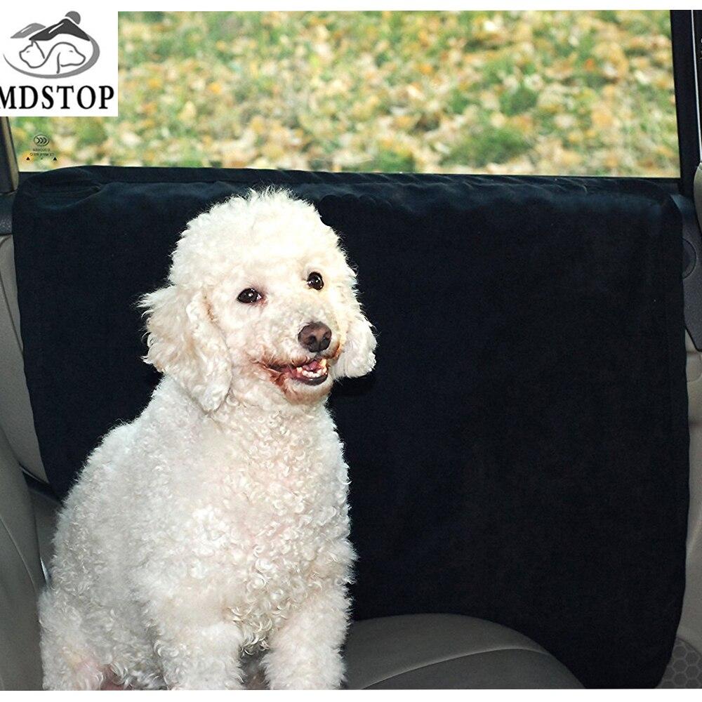 MDSTOP Fast Shiping Waterproof Pet Car Door Cover Car Rear Back Seat Pad Suede Door Cover Mat Protectors Fit All Vehicles