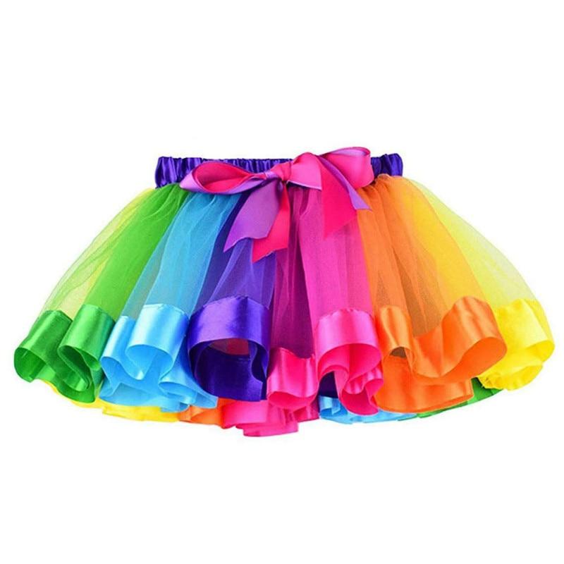 Girls Layered Tutu Skirt with Unicorn Tshirt Headband /& Satin Sash