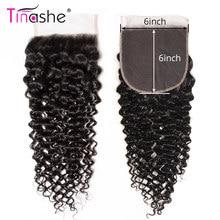 Tinashe cheveux 6x6 dentelle fermeture brésilienne cheveux bouclés Remy cheveux humains partie centrale libre couleur naturelle pré plumée suisse dentelle fermeture