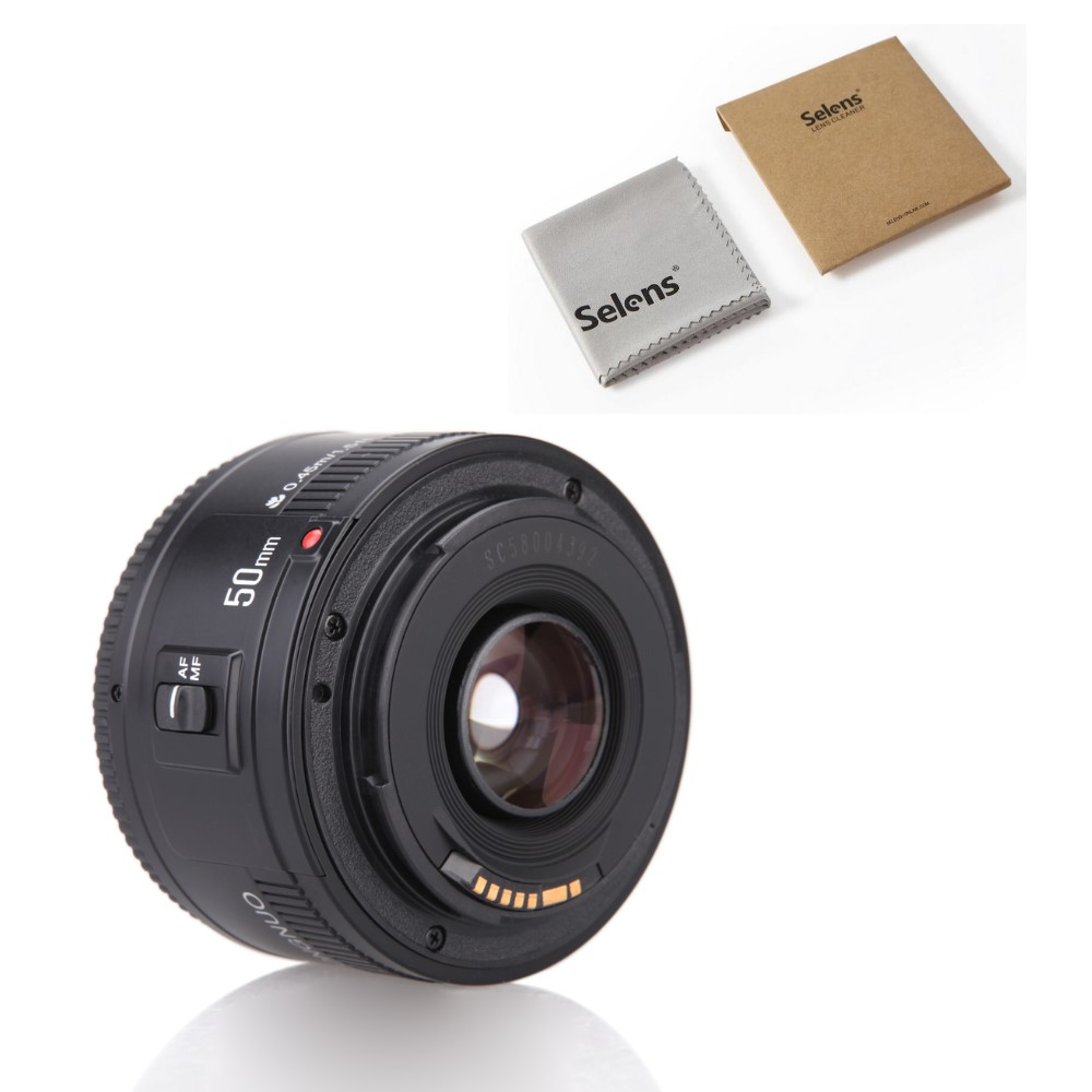 YONGNUO YN50mm Lens fixed focus EF 50mm F1 8 AF MF lense Large Aperture Auto Focus