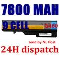 7800mAH Laptop Battery For Lenovo IdeaPad G565 B470 B457 K47 V470 b570 G460 G470 G770 G780 V370 Z370 Z460 G560 57Y6454 57Y6455