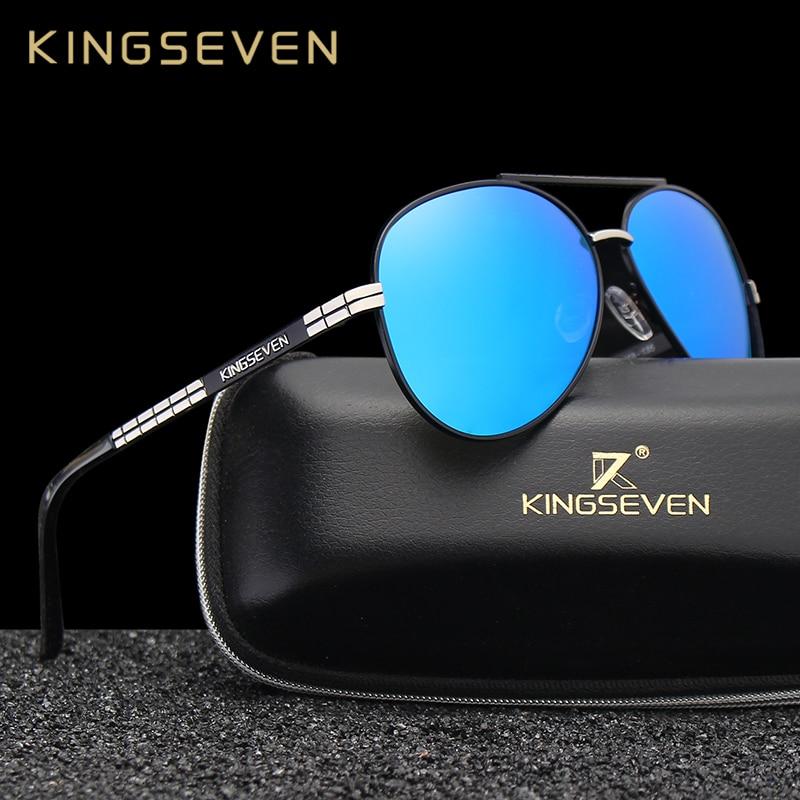 KINGSEVEN Clássico Da Moda óculos de Sol dos homens Da Marca HD Óculos  Polarizados Condução de cdc82e7e3b