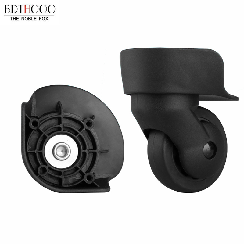 Diplomatic Bdthooo Replacement Luggage Wheels For Suitcases Repair Hand Spinner Caster Wheels Luggage Parts Trolley Rubber Wheel Black A-65 Bag Parts & Accessories
