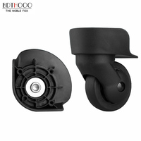 BDTHOOO Replacement Luggage Wheels For Suitcases Repair Hand Spinner Caster Wheels Luggage Parts Trolley Rubber Wheel Black A 65