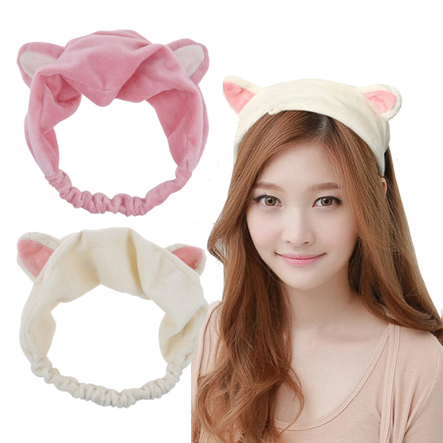 Image result for 22. Korean Fashion Cute Cat EAR Turban Headband Hair Accessories