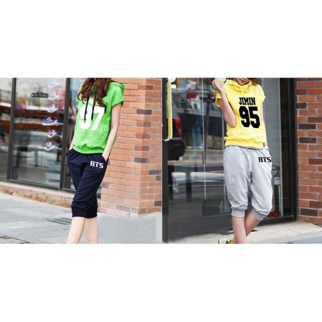 BTS Bangtan Boys Hooded Short Sleeve Sweater