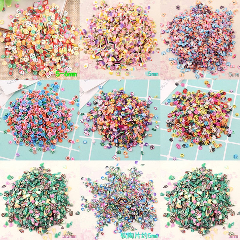 100g Slime Clay Sprinkles Colorful Candy Fake Cake Dessert Fimo Polymer Clay Diy Sugar Simulation Food Dollhouse Miniature bakers ez way dragees silver sugar cake cupcake cookie sprinkles 2mm