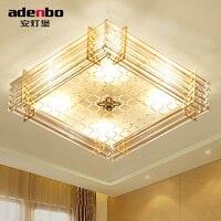Современный LED прямоугольная потолочный светильник Освещение светильники 40x40 см с Стекло Панель для Спальня Освещение (adb2626)