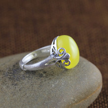 Silver jewelry wholesale new retro personality small ring opening pulp