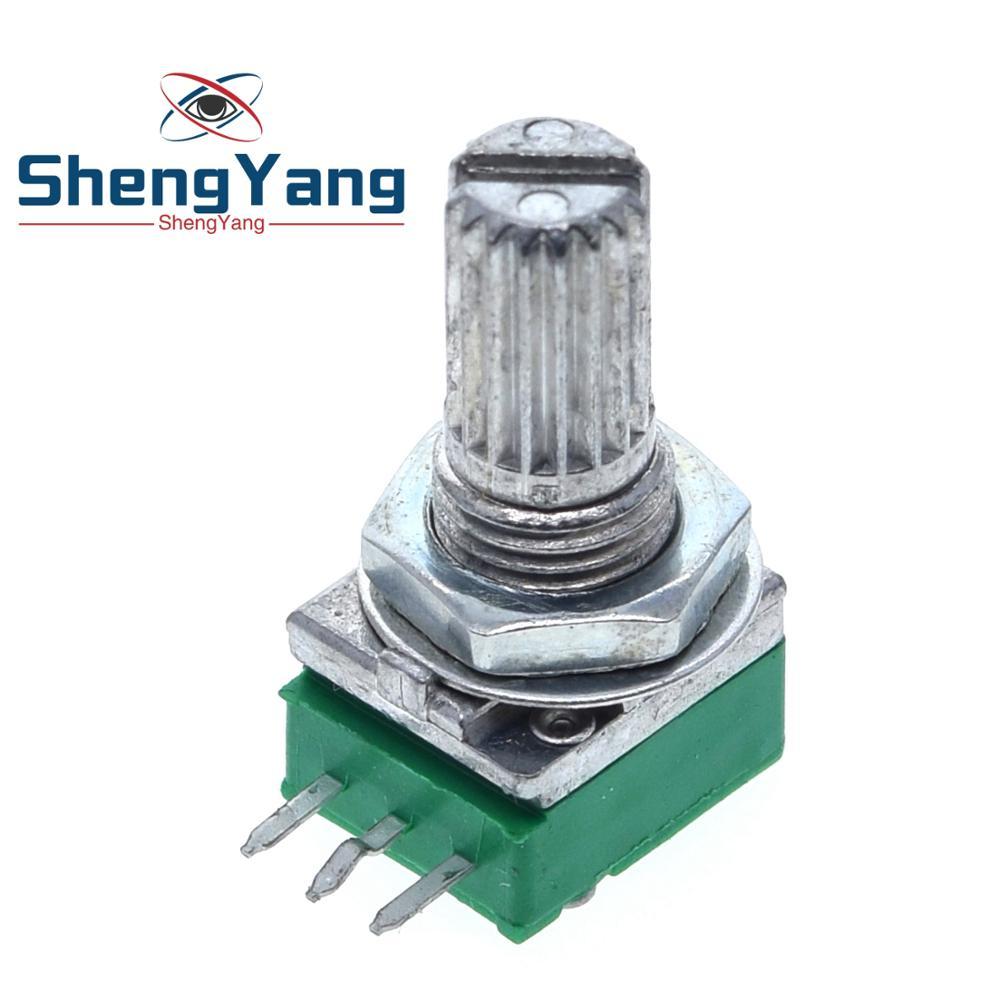 Шэньян 1 шт. B1K B2K B5K B10K B20K B50K B100K B500K аудио усилитель герметичный потенциометр 15 мм вал 3 штыря RK097N