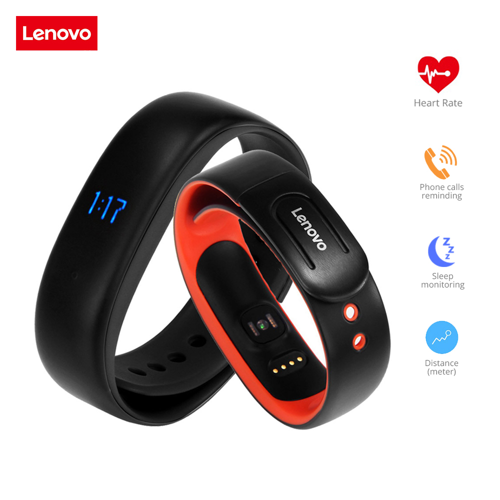 Lenovo HW02 Smartband Bluetooth Heart rate monitor Smart Bracelet Waterproof Sport Wristband Fitness Tracker For Android