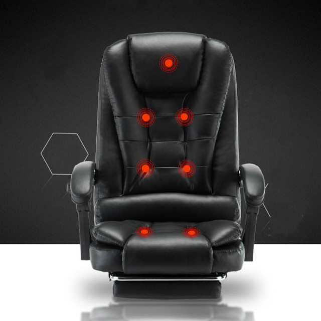 Genuine Leather Computer Chair Household Leather Office Chair PU Swivel Lift Gaming Chair 2