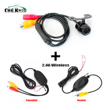 Car Reversing Camera With 2.4G Wireless Receiver Transmitter Parking Assistance Parktronic Cam Rear view Backup Camera цена
