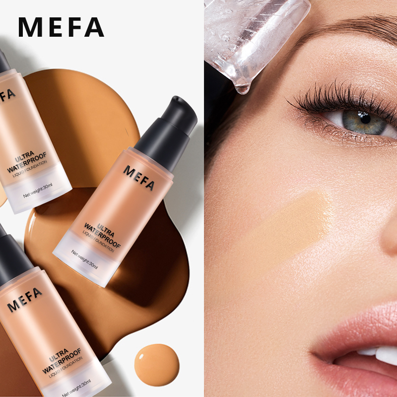MEFA 2017 Super Waterproof Liquid Foundation 1Pcs Perfect Cover Concealer Face Base Makeup Moisturizing Face Foundation Comestic