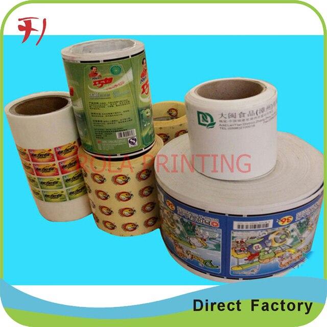 Kundenspezifische Rolle Private Tee Etiketten Printig Custom Design