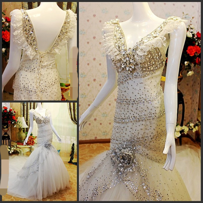 2013 Wedding Dress With Swarovski Crystals Wedding Dresses