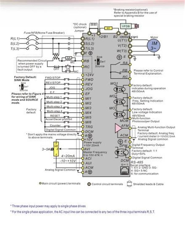 VFD185B23A Original new 18 5kw vfd inverter ac motor drive inverter 3 phase 220v vfd variable 3 phase ac drive wiring diagram wiring diagram