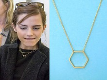 hollow Geometric Hexagon Necklace Simple Sexangle geometrical Open Line Hive pendant lucky Polygon jewelry