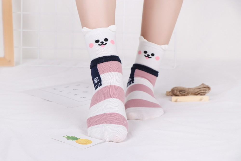 HTB1.LSlKv5TBuNjSspmq6yDRVXat - New Design Animal Patterned Short Socks Women shiba inu Cartoon Ankle Socks Female Fashion Funny Socks Cotton Hosiery Christmas