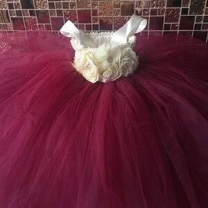 Image 3 - Çiçek kız Tutu elbise ayak bileği uzunlukta prenses tül çocuklar Tutu kızlar için elbiseler düğün parti elbise çocuk Pageant balo elbisesi