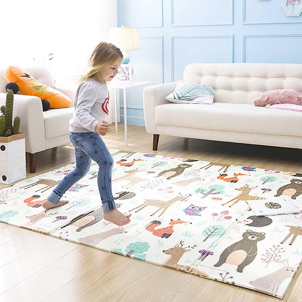 Tapis de jeu pour bébé Puzzle tapis de bébé mousse épaissi tapis de jeu salle ramper tapis pliant tapis de bébé tapis de sol antidérapant 150*200*1CM - 4
