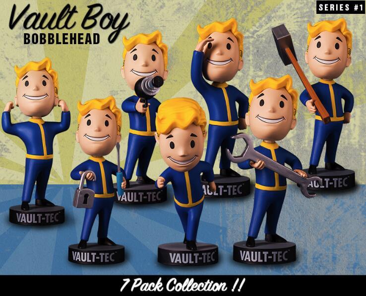 Cabezas de juego Fallout 4 Bobblehead Cute Vault Boy Series 1 figura de acción juguetes de modelos coleccionables