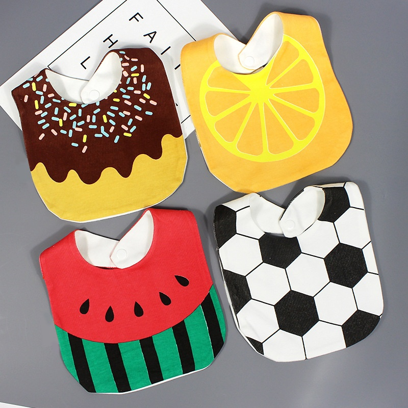 Waterproof Baby Bibs Cute Cotton Bandana Bib Baby Accessories 4 Style