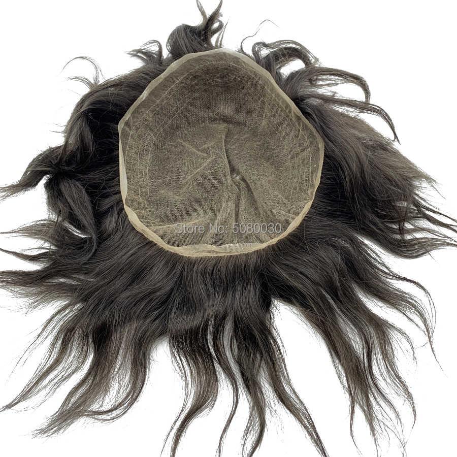 Erkekler dantel peruk tam swiss dantel erkek peruk insan saçı ağartılmış knot ücretsiz kargo