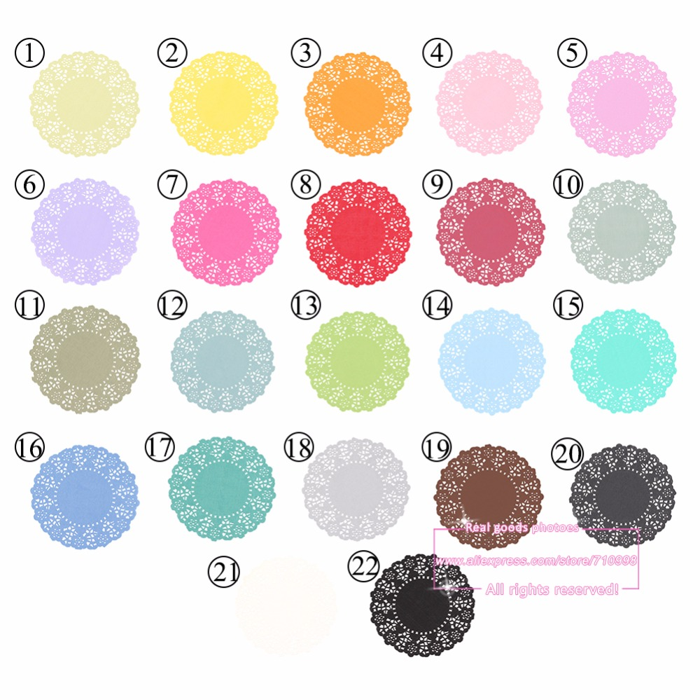 20pcs 45 Inch Total 23 Colored Vintage Lace Round Paper