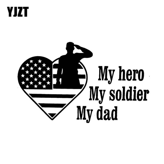 Yjzt 1592cm My Hero My Soldier My Dad American Dream Covering The