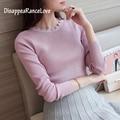Atacado 2017 Estilo Coreano Menina Pullover Solta Camisola Outono Malha Camisola Das Mulheres Pullovers longo-luva camisola