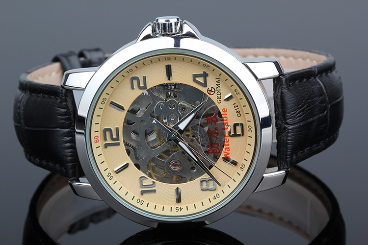 Watches Men Luxury Top Brand GEDIMAI New Fashion Men's Big Dial Designer Mechanical Male Wristwatch relogio masculino relojes new fashion men watches top brand luxury guanqin quartz watch men s big dial designer male wristwatch relogio masculino