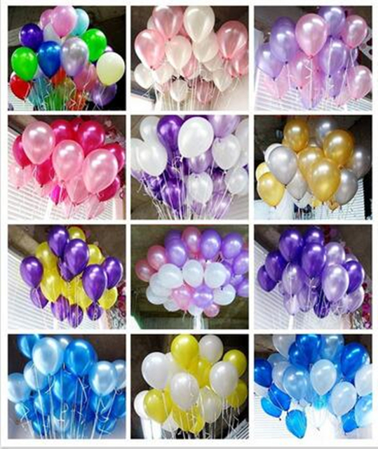 20pcs/lot 10inch 1.5g Black Pearl Latex Balloons Birthday Air Balls Inflatable Wedding Party Decoration Supplies Kids Toy globos