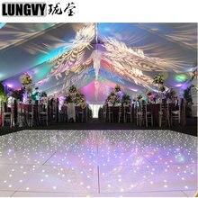 2ft* 4ft Disco LED звездным танцпол Дистанционное управление Портативный танцпол