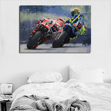 Marc Marquez And Valentino Rossiyes Minimalist Watercolor Canvas Posters Prints Wall Art Painting Decorative Picture Home Decor