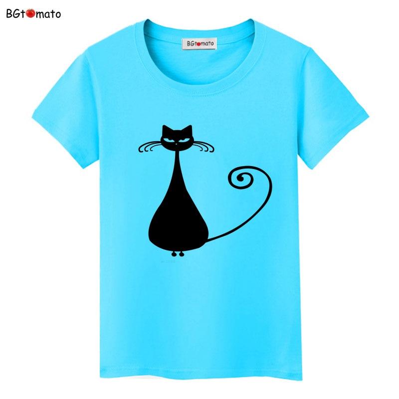 BGtomato super cool elegant cat t shirt women hot sale clothes lovely tshirt fashion top tees t-shirt Brand kawaii shirt 26