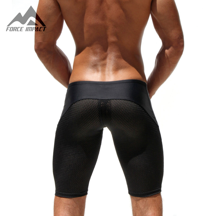Fashion Sexy Slim Fitted Men's Tight Shorts Casual Leisure Summer Men Workout Shorts Skinny Crossfit Fight Short for man AQ11