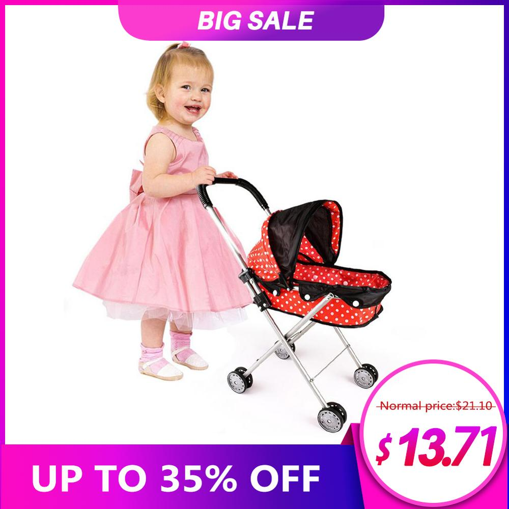 Baby Doll Stroller Toy Doll Trolley Toy Simulated Stroller For Indoor Outdoor Use For Over 3 Year Old