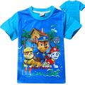New Arrivals Kids 2016 Boys Summer Paw Dogs Cartoon T Shirt Tops Tee Children Clothing Trolls Baby boy T-Shirt Clothes