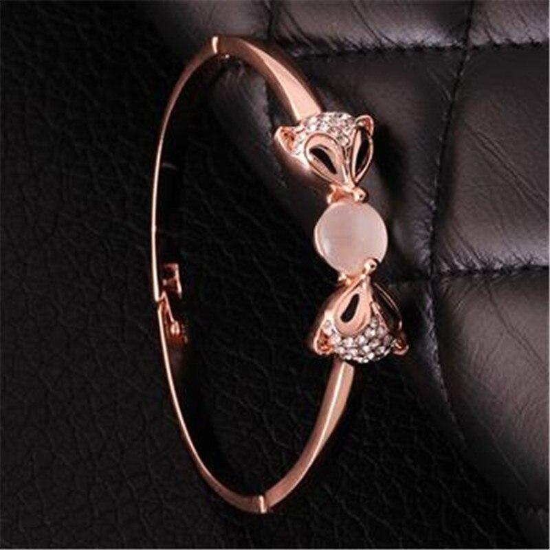 Браслет Дизайн для Для женщин Мода Сейф Пряжка Стиль изделия из розового золота Цвет ювелирные изделия Золотой Чешский drill42