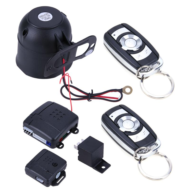 Car Vehicle Auto Burglar Alarm Protection Keyless Entry Security System With Remote Controllers Universal Car Alarm Systems New