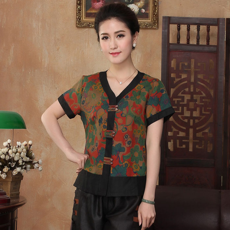 Femenino Mujer Seda De Camisa Mujeres Tradicional Chino Shirtsilkworm 100 Tops Blusa Ranúnculo Tyr2302 PxBYwTq
